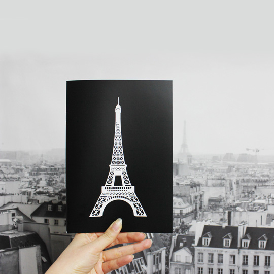 Тетрадь 'Eiffel Tower Black'