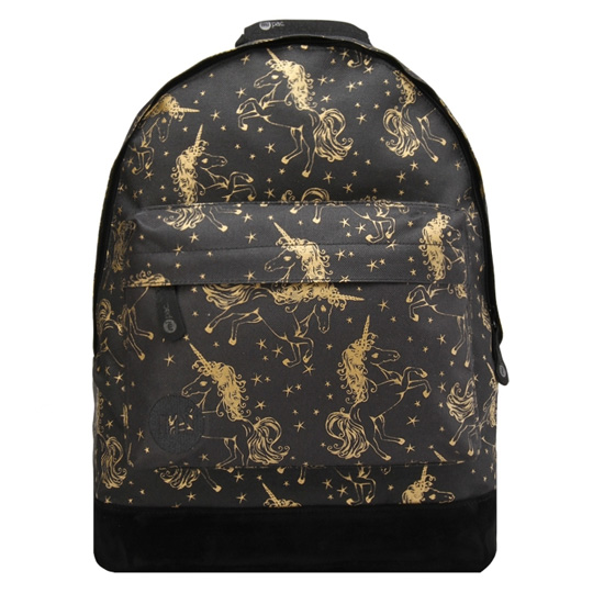 Рюкзак 'Custom Prints Unicorns'  / Black, Gold