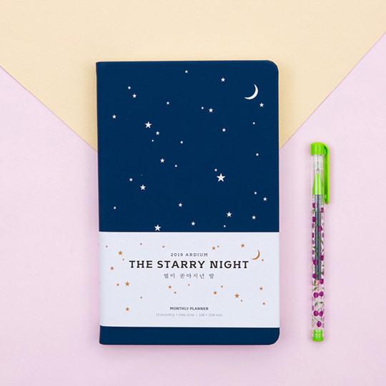 Планинг датированный 2019 'The Starry Night'  / Deep blue