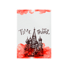 Обложка для паспорта 'Time For Travel To Moscow'